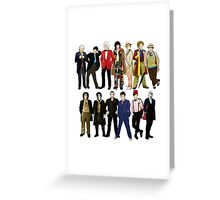 Doctor Who - Alternate Costumes 13 Doctors Greeting Card