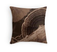 Mushrooms and lillypads Throw Pillow