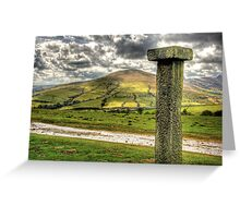 """Boundary Stone In The Peaks"" Greeting Card"