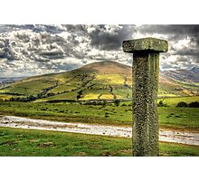 """Boundary Stone In The Peaks"" Photographic Print"