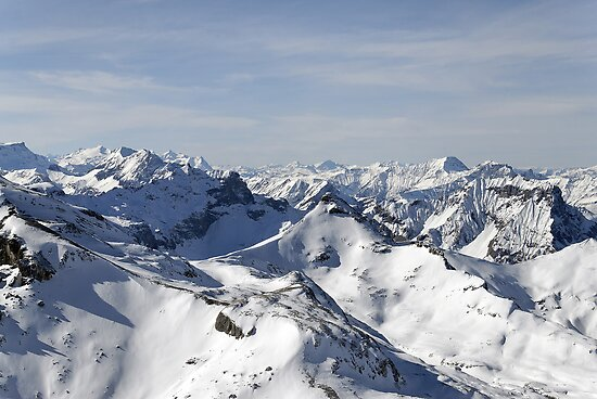 View from the Schilthorn by buttonpresser