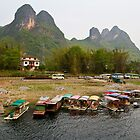 Li River, Guilin in China version 2 by Jennifer Bailey
