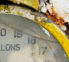 Detail of a rusting petrol pump by buttonpresser