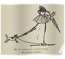 Kate Greenaway Collection 1905 0413 Stray Puppy Letter to Ruskin Poster