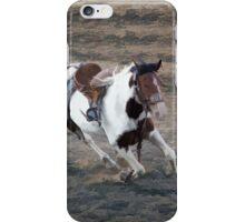 Bucking Pinto Horse iPhone Case/Skin