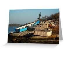 Waiting for warmer weather Greeting Card