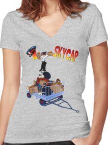 I Skycap!-2 Women's Fitted V-Neck T-Shirt