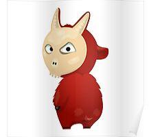 Funny cartoon goat Poster