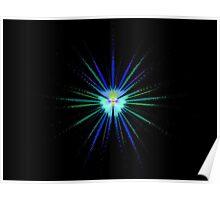 Atom burst Poster