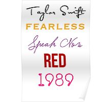 Taylor Swift albums Poster