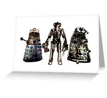 Destroyed Daleks and Rogue Cyberman Greeting Card