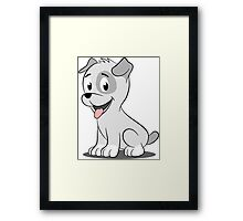 Kawaii puppy Framed Print