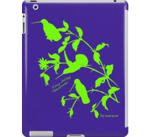 green long-billed starthroat, iPad Case/Skin