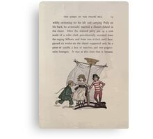 The Queen of Pirate Isle Bret Harte, Edmund Evans, Kate Greenaway 1886 0017 Pirate Ship Canvas Print