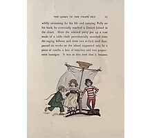 The Queen of Pirate Isle Bret Harte, Edmund Evans, Kate Greenaway 1886 0017 Pirate Ship Photographic Print