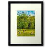 Americana - Let's go fly a kite Framed Print