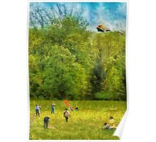 Americana - Let's go fly a kite Poster
