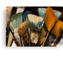 An Artist's Tools Canvas Print