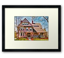 House - Pink Majestic Framed Print