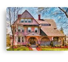 House - Pink Majestic Canvas Print