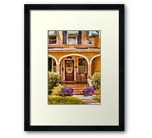 House - Visiting Grandma Framed Print