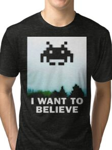 Believe in the Invaders. Tri-blend T-Shirt