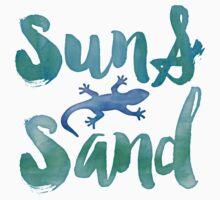 Sun and Sand Salamander Kids Tee