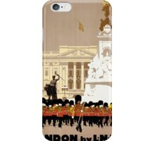 London Vintage Travel Poster Restored iPhone Case/Skin