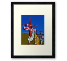 Stardust Motel III Framed Print