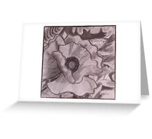 Charcoal Poppy Greeting Card