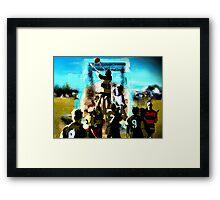 """""""Football in OZ"""" Framed Print"""