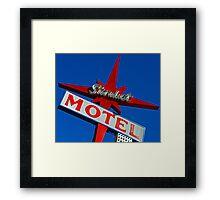 Stardust Motel V Framed Print