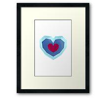 Retro Heart Framed Print