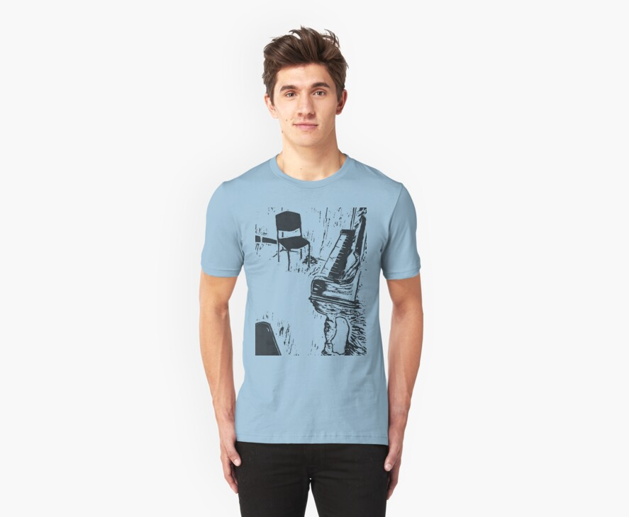 The Music's Playing but Nobody's Listening  - t-shirt by byronC