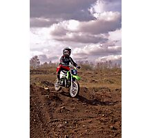 Connor - First Dirt Bike Jump Photographic Print