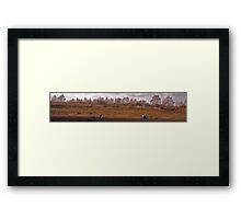 Uncle and Niece - Dirt bike riding Framed Print