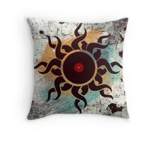 Love Vinyl Records - Music Art Prints with Grunge Texture - T-Shirt and Stickers Throw Pillow