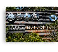 Happy Motoring Canvas Print
