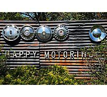 Happy Motoring Photographic Print