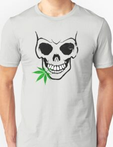 Skull with Weed -  Cool Skull with Pot T-Shirt
