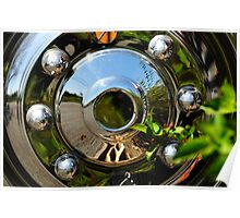 One Sliver Chrome Hubcap Poster