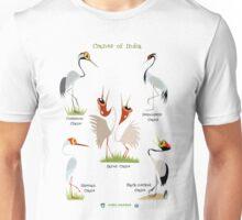 Cranes of India Unisex T-Shirt