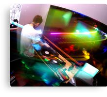 Lights - In the DJ Booth Canvas Print