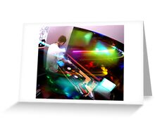 Lights - In the DJ Booth Greeting Card