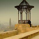 The Citadel wall overlooking Cairo - Mosque of Muhammad Ali Pasha  by Fineli