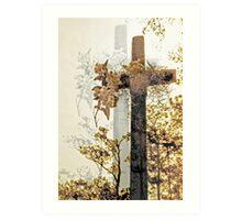 cross shadowed by light Art Print