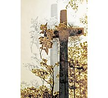 cross shadowed by light Photographic Print