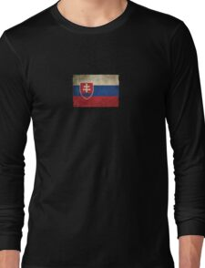 Old and Worn Distressed Vintage Flag of Slovakia Long Sleeve T-Shirt
