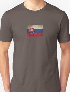 Old and Worn Distressed Vintage Flag of Slovakia T-Shirt