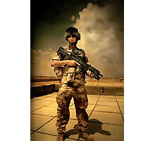 Self Portrait of a Soldier Photographic Print